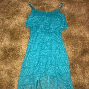 Charlotte Russe teal high low dress